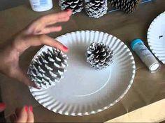 How to: Easy craft for Christmas decor!! Snow covered pine cones!  creativesouthernbelle.blogspot.com