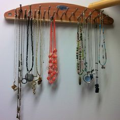 Use a rotating tie rack to organize your jewelry do it yourself tie rack as necklace storage solutioingenieria Image collections