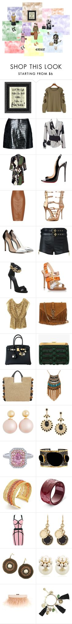 """Fierce"" by studiodinteriors on Polyvore featuring Jolie By Edward Spiers, Emporio Armani, River Island, Christian Louboutin, Bailey 44, Giuseppe Zanotti, Gianvito Rossi, Nine West, Alice + Olivia and Yves Saint Laurent"