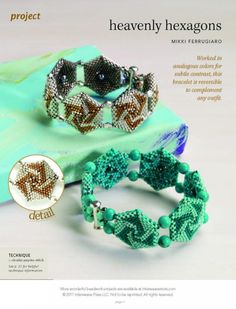 Схемы: Heavenly hexagons. Best of Beadwork 10