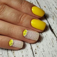 Awesome 51 Trendy Yellow Nail Art Ideas Suitable For Summer. More at http://trendwear4you.com/2018/03/18/51-trendy-yellow-nail-art-ideas-suitable-for-summer/