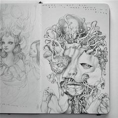 The sketchbook of Anton Vill  http://www.juxtapoz.com/Current/the-sketchbook-of-anton-vill