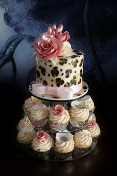 Beautiful Wedding Cakes with Waterfall | Nat's Leopard & Pink Birthday Cake