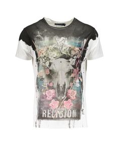 PRETTY STAG TEE - WHITE - Tops - Clothing - Mens