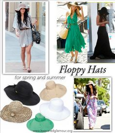 Floppy Hats for spring and summer. LOVE THEM and definitely getting one! Summer Chic, Summer Of Love, Summer Time, Floppy Hats, Motivational Messages, Head Accessories, Love Hat, Outfits With Hats, Summer Hats