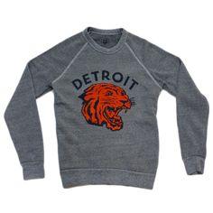 Detroit Neo-Tiger Crewneck Sweatshirt | Simplified Clothing