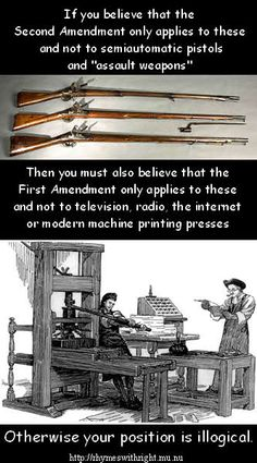 The First and Second Amendments in context ~ Really , Stop & Think about this.