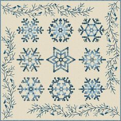 Snowflake Quilt Project by Edyta Sitar of Laundry Basket Quilts