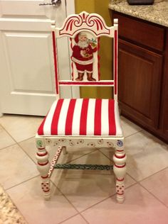 Santa chair  ((I thought my family was the only one that used a chair for Santa's gifts))