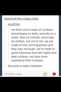 We are more than numbers...