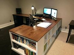 # 28 Awesome Diy Home Office Desk Ideas. These can be made into a corner desk a closet desk or really any size or shape your home office space requires. And best of all since you ve made it yourself the desk will be completely original. Diy Office Desk, Diy Computer Desk, Home Office Space, Diy Desk, Home Office Desks, Desk Space, Corner Desk Diy, Desk Redo, Kids Computer