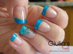 #nail #nails #nailart love this but in purple or black with a color in the sparkles