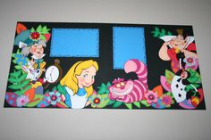 Alice in Wonderland scrapbook layout. Links to picture only