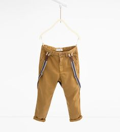 ZARA - KIDS - Trousers with braces - love the warm tone of these for the bigger boys.