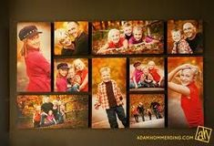 picture collages above fireplace - Google Search