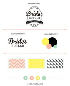 Bride's Butler Brand Board // Ashley & Malone