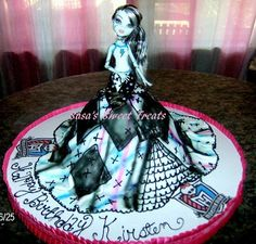 Monster High Doll cake for kyla Tortas Monster High, Monster High Cakes, Monster High Birthday, Monster High Party, Fete Anne, Barbie Cake, Dress Cake, Character Cakes, Holiday Cakes