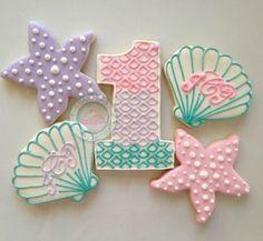 ocean party cookies Cookie decorating