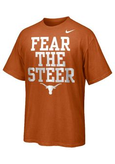 Texas Longhorns Nike T-Shirt - Orange Red River Rivalry 2013 Short Sleeve Tee… Texas Longhorns T Shirts, Ut Longhorns, Nike T Shirt Mens, Nike Men, Red River Rivalry, Love And Basketball, College Basketball, Hook Em Horns, Texas Pride