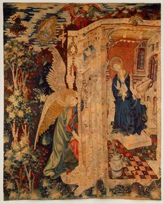 Tapestry with the Annunciation - Date: ca. 1410–20.  Culture: South Netherlandish.