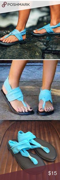 blue sanuk yoga mat sling sandal 6 New never worn Sanuk Shoes Sandals