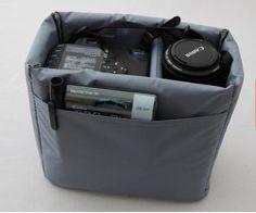 DSLR Camera Bag Insert with Padded Velcro Flap - Handbag Dividers - Removable Insert Bag - Adjustable Dividers BBK