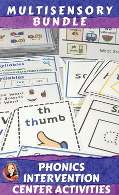 Phonics Activities Bundle for Distance and Classroom Learning Dyslexia Activities, Dyslexia Teaching, Spelling Activities, Literacy Activities, Teaching Resources, Dyslexia Strategies, Teaching Ideas, Reading Task Cards, Math Task Cards