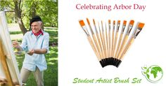 Arbour Day, Artist Brush, Wooden Handles, Paint Brushes, Brush Set, Forests, Environment, Plant, Student