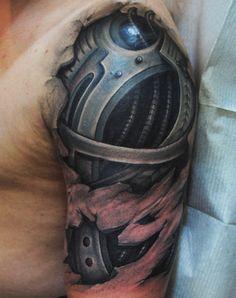 Awesome Mechanical Tattoo Style