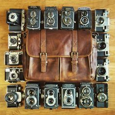 Is there such a thing as too many film cameras? We love this collection shot by @bitter__sweet__symphony!
