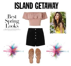 """Island Getaway"" by marthagoldfield ❤ liked on Polyvore featuring Miss Selfridge, rag & bone/JEAN, Aéropostale, H&M and Givenchy"