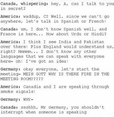 America and Canada Headcanon -- YES <-- hetalia Funny Quotes, Funny Memes, Hilarious, Hetalia Headcanons, Hetaoni, Hetalia America, Hetalia Funny, Hetalia Axis Powers, America And Canada