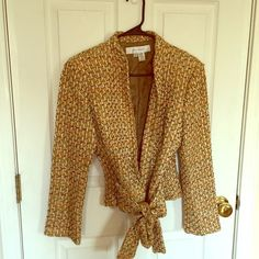 FLASH SALE Zara  boucle jacket size 8 Gorgeous belted boucle jacket from Zara size 8.  It is fairly heavy.  A few scattered loose threads as depicted in the last photo.  I'm guessing they can be pushed back in. Sale price is firm unless bundled  Zara Jackets & Coats