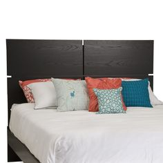Queen size Modern Headboard in Black Oak Finish