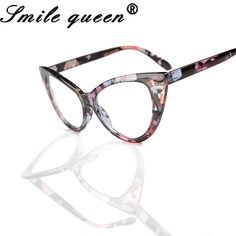 759eb959123 2016 New Cat Eye Glasses Frame For Women Sexy Retro Fashion Men Nerd Glasses  Clear Lens