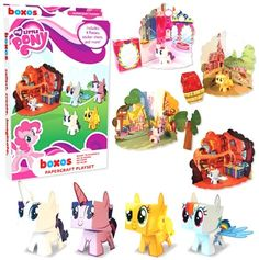 Black Friday 2014 Funko My Little Pony Papercraft Playset from FunKo Cyber Monday. Black Friday specials on the season most-wanted Christmas gifts. Origami Paper Art, Paper Crafts, Toddler Toys, Kids Toys, Black Friday Specials, My Little Pony Friendship, Little My, Rainbow Dash, Toy Sale
