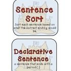 This activity has has kiddos sort by the 4 types of sentences. After they have done the sorting, they will make one of each type of sentence on th. 4 Types Of Sentences, Art Activities, Beach Themes, Sorting, Language Arts, Kindergarten, Education, Barbie, Summer