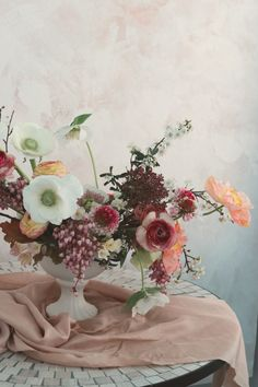 Romantic and artfully feminine brand of floral design. Blue Mountain, Wedding Flowers, Floral Design, Floral Wreath, Wreaths, Painting, Instagram, Art, Art Background