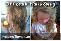 Super easy recipe for an all natural texturizing hair spray that costs less than a dollar to make and gives hair volume and waves.