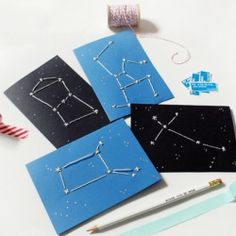 How to make unique constellation cards for Valentine's day or any day!