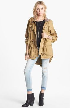 Free People 'Tapestry' Drawstring Jacket Medium
