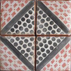 Paris Metro – hand painted terracotta tile - Tabarka Studio