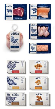 Sid Lee's Toronto atelier developed a new identity for Blue Goose, a Canadian organic and natural food brand, with illustrations by Ben Kwok.