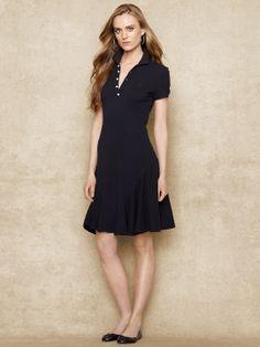 Pima Cotton Flared Shirtdress - Short Dresses Dresses - Ralph Lauren UK