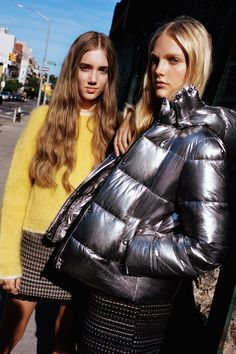 A puffer coat will keep you warm, but this one will make you look cool too. Zara Metallic Puff Jacket ($100)