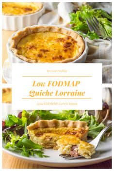 This low FODMAP quiche lorraine recipe is an irresistible combination of eggs, cheese and smoky bacon all wrapped up in a buttery crust. Supper Recipes, Lunch Recipes, Healthy Recipes, Diet Recipes, Breakfast Recipes, Easy Lunches For Kids, Healthy Meals For Kids, Healthy Eating, Low Fodmap