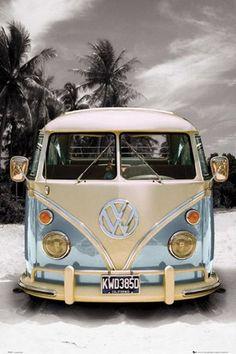 Californian Camper Van - VW on the Beach