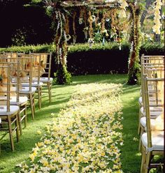 Decorations For Wedding Ceremony Flower Everywhere | visit www.lovelyweddingideas.com