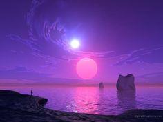 A strange  planet, a lonely beach, a world apart...