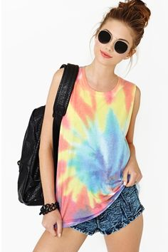 Psychedelic Muscle Tee by Local Celebrity